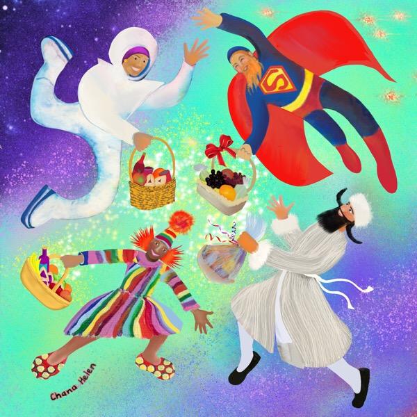 Purim, Costumes, mishloach manot