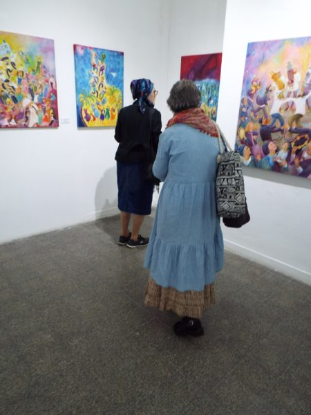 Visitors to my Solo exhibition