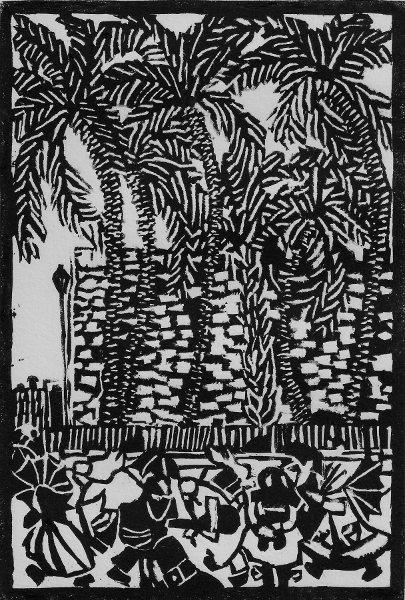 Palm Trees in the Rain, Jerusalem